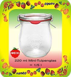 24 WECK®-Mini-Tulpengläser 220ml, Marmeladengläser, NEU