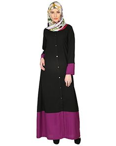 Modest Forever Black And Purple AbayaP259L_Black_L *** Continue to the product at the image link.