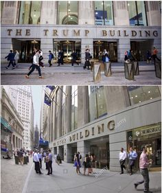 40 Wall Street, also known as the Trump Building, is a 71-story skyscraper in New York City.  The building was originally known as the Bank of Manhattan Trust Building, and also as the Manhattan Company Building, until its founding tenant merged to form the Chase Manhattan Bank.  The building, between Nassau Street and William Street in Manhattan, New York City, was completed in 1930 after 11 months of construction.