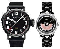"""Zenith - Montre d'Aéronef Type 20 GMT Baron Rouge - Dior - Dior VIII Grand Bal modèle """"Plume et Nacre"""" - D.R. #zenith #dior"""