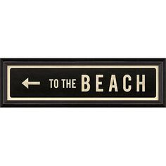 """""""to+the+beach""""+left+arrow+street+sign+-+Vintage+inspired+street+signs+with+lovely+seaside+settings.+ Numbered+and+signed+edition+in+a+black+distressed+wood+frame+with+a+glass+front. The+artist+has+a+unique+style+and+flair+with+her+paintings+that+is+reminiscent+of+her+favorite+place+the+island+of+Nantucket,+located+30+miles+out+to+sea+off+the+coast+of+Cape+Cod."""
