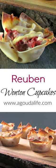 MOST REQUESTED RECIPE! Reuben Wonton Cupcakes: everything you love about a Reuben sandwich in a 1-2 bite wonton cup appetizer.