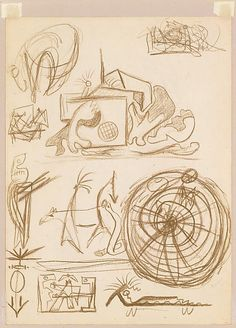 Jackson Pollock (American, Cody, Wyoming 1912–1956 East Hampton, New York ) Untitled (Psychoanalytic Drawing)