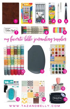 Taz + Belly Blog | Favorite Bible Journaling Supplies