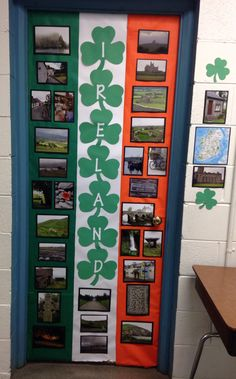Ireland classroom door decor