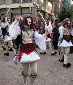 Traditional Carnival Celebration in Naoussa Scenic Photography, Night Photography, Photography Tips, Landscape Photography, Greek Traditional Dress, Traditional Outfits, Macedonia Greece, Dance Costumes, Greek Costumes