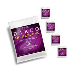 5-pack Darco Custom Light Gauge Electric Guitar Strings 11-49 by Martin Guitar Company USA.Darco Electric Guitar Strings by Martin. The guitar world's Best Kept Secret. Martin Guitar Company is known for producing high-quality, popular acoustic guitar strings and they have been making their own strings since 1970.You can be sure these Electric Guitars strings are made to the same quality standards that made Martin so legendary.Set: D9150Gauge: Custom Light 11-14-18-28-38-49Tension: 118.6Pac