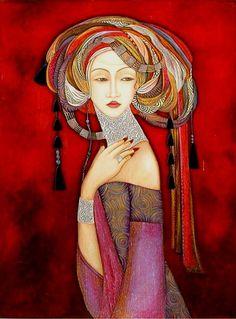 Faiza Maghni - Algeria Arab Women Artists #ArabWomenArtists