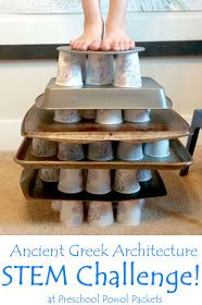 Ancient Greek Architecture STEM Challenge & Activities - Back to School Middle School Science, Science For Kids, Stem Science, Science Experiments, Science Fair, Science Week, Science Ideas, Teaching Science, Teaching Ideas