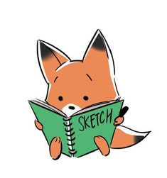 Fox is busy working on his sketches!  www.thedamkeeper.com