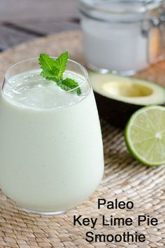 Even though this paleo key lime pie smoothie is gluten-free, dairy-free and egg-free, it's decadent enough for dessert. And it's faster than baking a pie!