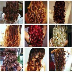Cabelos cacheados são perfeitos, coloridos então .. LINDOS #penteados