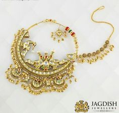 A traditional bridal  nath/nose ring