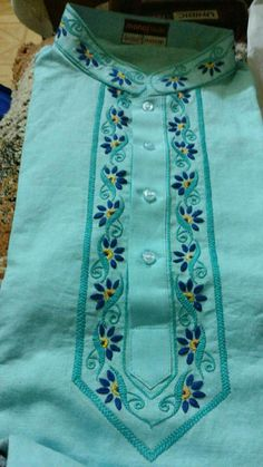 Best 12 Herringbone stitch – Page 587297607637762301 Embroidery Suits Punjabi, Embroidery On Kurtis, Hand Embroidery Dress, Kurti Embroidery Design, Embroidery Neck Designs, Embroidery Stitches, Embroidery Patterns, Flower Embroidery, Kurti Sleeves Design