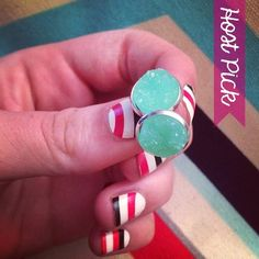 HP!  Mint Faux Druzy Earrings Handmade earrings with mint faux druzy charms. Bundle 3 pairs for $12, comment with your choices or create a bundle to get discount. ❤️. Customer photos shown for size comparison only. Handmade Jewelry Earrings