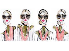 eyewear illustration by Blair Breitenstein©PRADA