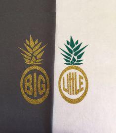 Big Little Pineapple Glitter Iron-on Monogram | DIY Monogram Shirt | Sorority Family Shirt  Bridesmaid Monogram by ColorMeUncommon on Etsy