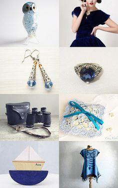 Blue....................... by Elena Kurtidi on Etsy--Pinned with TreasuryPin.com