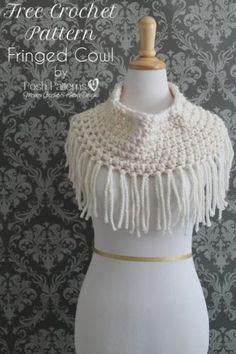 fringe cowl free crochet pattern