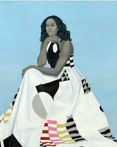 Michelle Obama, National Portrait by Kehinde Wiley