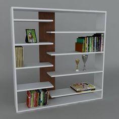 Book shelf wall shelving unit/Room Divider Phone in White Wooden Shelf Design, Bookshelf Design, Wooden Shelves, Bookshelves, Floating Shelves, Bookcase, Folding Furniture, Tv Furniture, Wall Shelving Units