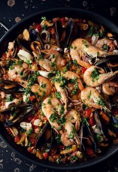 Seafood dish via: Taste The Rainbow.
