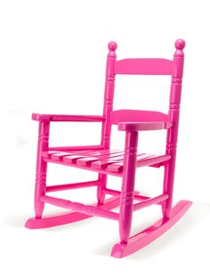 What little girl doesn't want a bright pink rocking chair?!