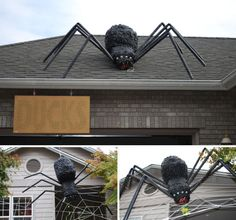 Awesome DIY Halloween Outdoor Decorations Ideas Giant Spider - Best diy halloween outdoor decorations