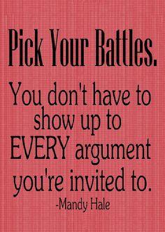 13 Best Pick Your Battles images   Pick your battles ...   Chart Pick Your Battles