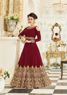 Looking to buy Anarkali online? ✓ Buy the latest designer Anarkali suits at Lashkaraa, with a variety of long Anarkali suits, party wear & Anarkali dresses! Designer Anarkali, Designer Salwar Kameez, Designer Gowns, Indian Designer Wear, Floor Length Anarkali, Long Anarkali, Anarkali Gown, Indian Anarkali, Anarkali Bridal
