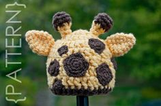Newborn - Toddler Giraffe Hat by Studio418: Easy crochet pattern. $5.99. #Crochet_Pattern #Giraffe_Hat