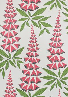 Foxglove Garden Wallpaper by MissPrint. PEFC certified and printed in the UK