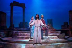 https://flic.kr/p/RVRFLu | Jesus Christ Superstar | Pictured L-R: Jenna Bainbridge (Mary Magdalene), Billy Lewis, Jr. (Jesus) and Matt LaFontaine (Judas) Photo: M. Gale Photography 2017
