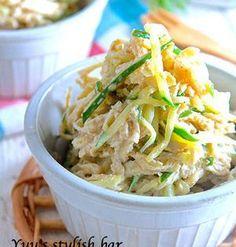 切り干し大根のコク旨おつまみサラダ | マヨネーズを多めに使っているので、切り干し大根が苦手な方でも食べやすい味です。キュウリと切り干しの異なる歯ごたえが楽しめます!