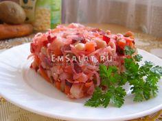 Винегрет с фасолью и без лука - http://emsalat.ru/salad_veget/vinegret-s-fasolyu-bez-luka.html