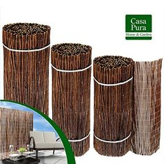 5m x 1,5m Bambusmatte Bambus-Sichtschutzmatte Zaun- Sichtschutz Matte geschnitten