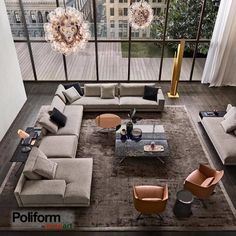 "84 Likes, 1 Comments - Poliform By Euroart (@poliform_by_euroart) on Instagram: ""MONDRIAN- Sofa designed by Jean-Marie Massaud for Poliform is a modular sofa for indoor use.…"""