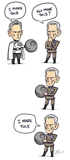 Tarkin, you bully you! Poor Krennic!