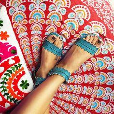 MIDSUMMER. Boho leather sandals / barefoot leather sandals / women shoes / flat shoes / boho shoes /