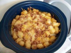 Cheesy Chicken, Bacon And Tater Tot Crock Pot Bake Recipe - Food.com - 403520