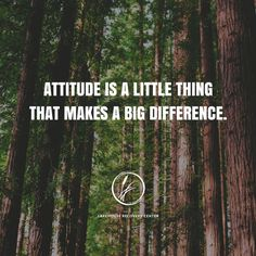 """""""Attitude is a little thing that makes a big difference."""" #InspirationalQuotes #Quote #Quotes #MotivationalQuotes #LifeQuotes #Attitude #AttitudeQuotes"""