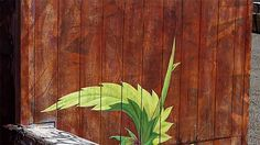 Mona Carons Murals of Weeds Slowly Overtake Walls and Buildings