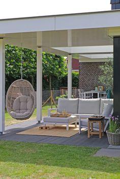 Concrete Front Porch, Boho Dekor, Outdoor Furniture Sets, Outdoor Decor, Home Office, Patio, Garden, Interior, House