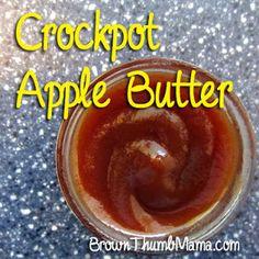 Crock Pot Apple Butter by Brown Thumb Mama. #paleo #applebutter #crockpot