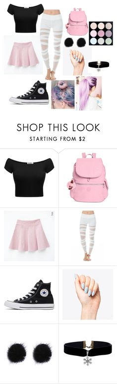 """pastel punk"" by treesquid ❤ liked on Polyvore featuring Kipling, Electric Yoga, Converse and nette' Leather Goods"