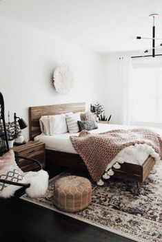Home Interior Living Room .Home Interior Living Room Simple Bedroom Decor, Cozy Bedroom, Home Decor Bedroom, Bedroom Furniture, Bedroom Rustic, Bedroom Stools, Bedroom Inspo, Pipe Furniture, Furniture Layout