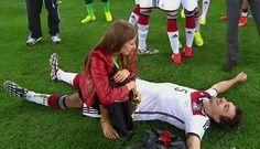 German defender Mats Hummels and girlfriend Cathy Fischer::