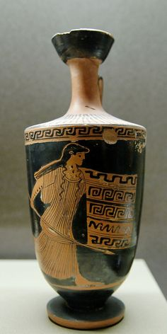 Louvre L52.  Thracian woman. Attic red-figured lekythos, ca. 460 BC. From Athens.