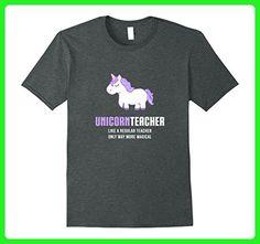 Mens Unicorn Teacher Shirt, Funny Cute Magical Gift 3XL Dark Heather - Fantasy sci fi shirts (*Amazon Partner-Link)