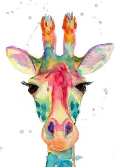 Watercolor giraffe head painting for home decor, watercolor giraffe art print, Gir . Watercolor Giraffe Head Painting for Home Decor, Watercolor Giraffe Art Print, Giraffe Wall Art . Giraffe Painting, Giraffe Art, Giraffe Nursery, Giraffe Head, Painting Art, Giraffe Drawing, Giraffe Decor, Body Painting, Watercolor Art Paintings